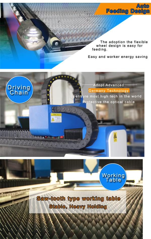 автомат для резки лазера волокна стали углерода повторяя точность